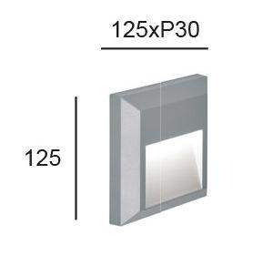 Luminaria LED de Superficie LEROS Plus 1 cotas