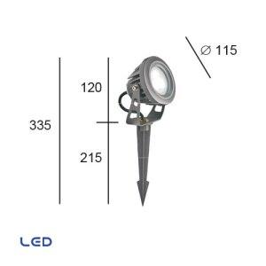 Foco LED Exterior TECH5 cotas