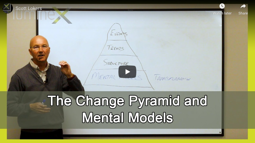 The change pyramid and mental models