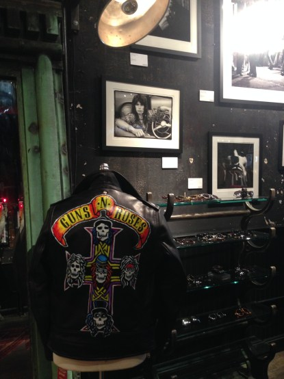 Limited edition hand painted Guns N' Roses jacket by Timothy LeNoir
