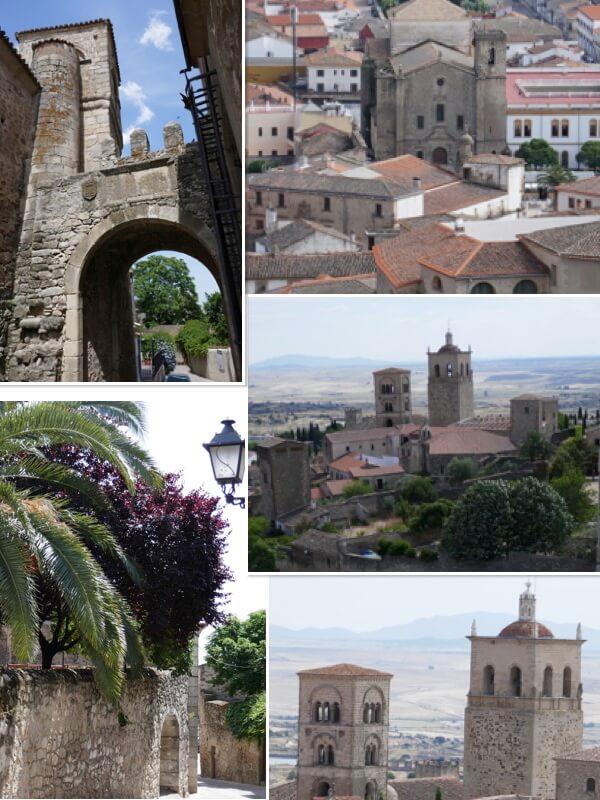 Puerta de Santiago, e Iglesia de Santa María la Mayor.