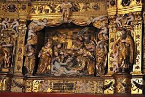 Catedral. Detalle del Altar Mayor de Damián Forment