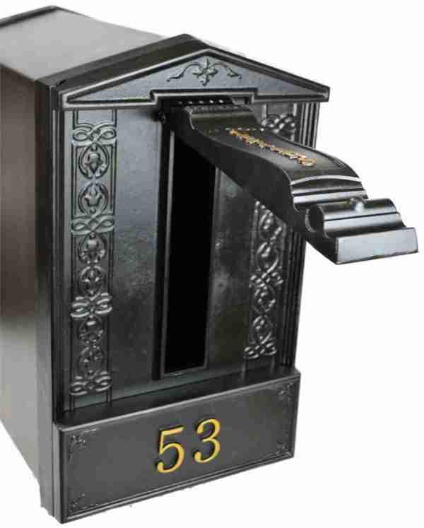 Freestanding Ground Post Cast Iron Bantock Letterbox