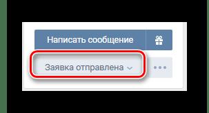 Successful application on the User's website on VKontakte website