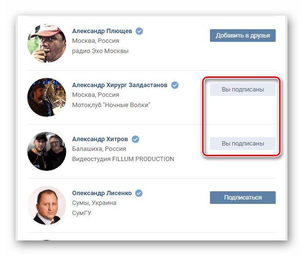 Successfully sent application as a friend in Friends section on VKontakte website