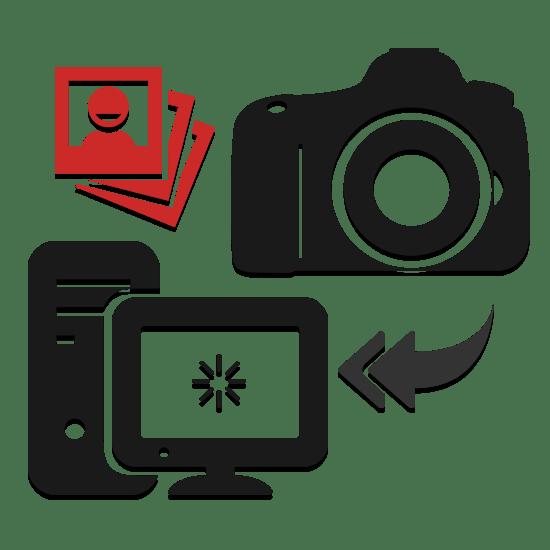 Hur man slänger ett foto från kameran till datorn