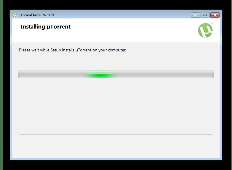 Ожидание окончания установки uTorrent