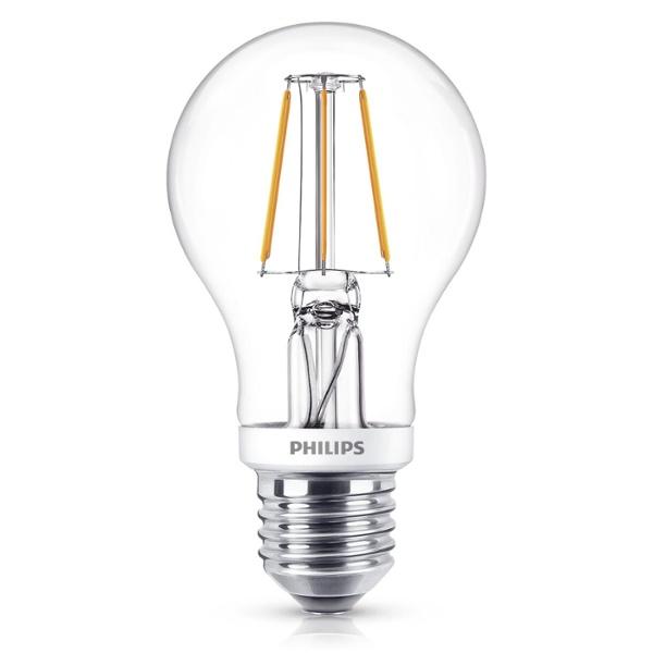 Philips Classic LEDbulb 5-40W E27 827 A60 clear FIL