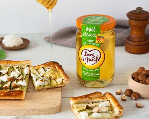 Torta salata di zucchine e miele di acacia Luna di Miele