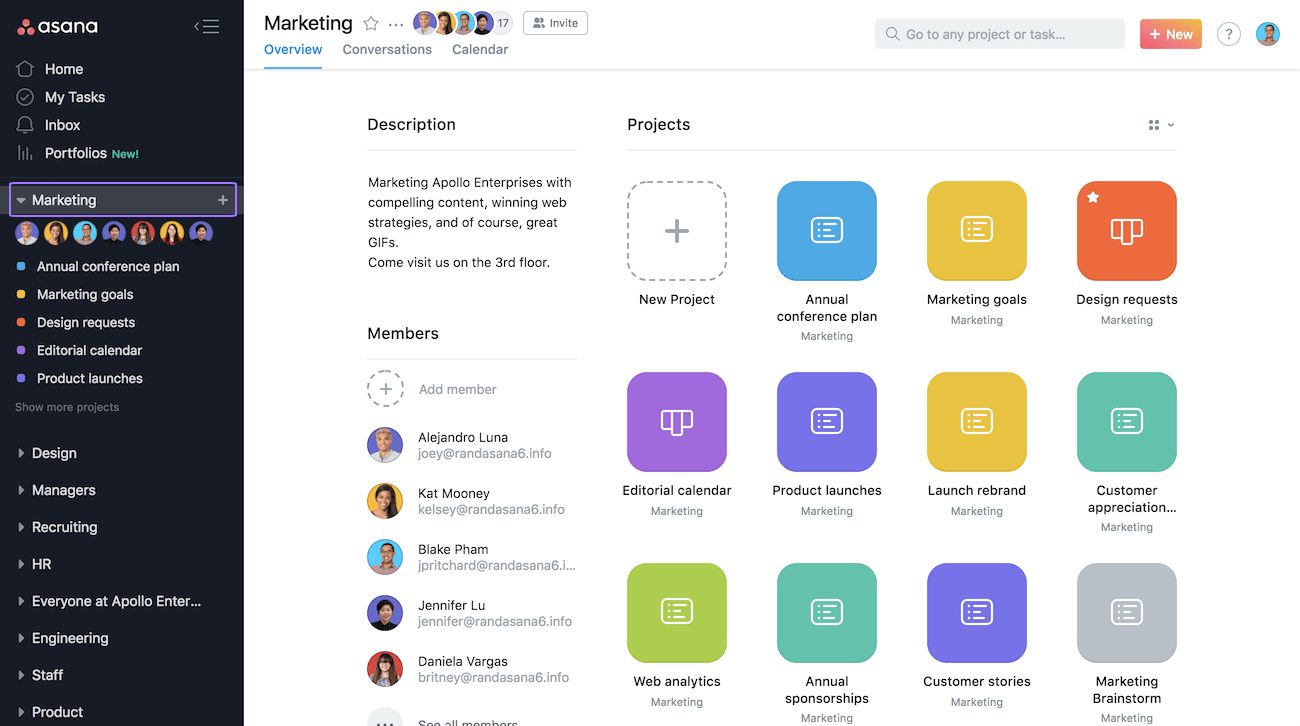 team page calendar product