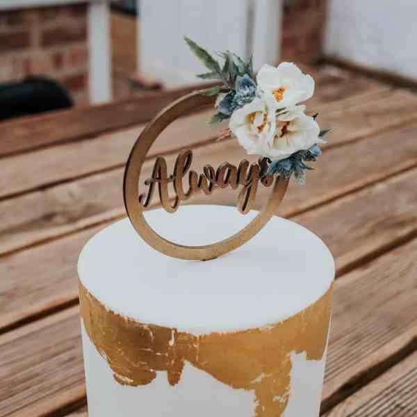 Always Floral Cake Topper