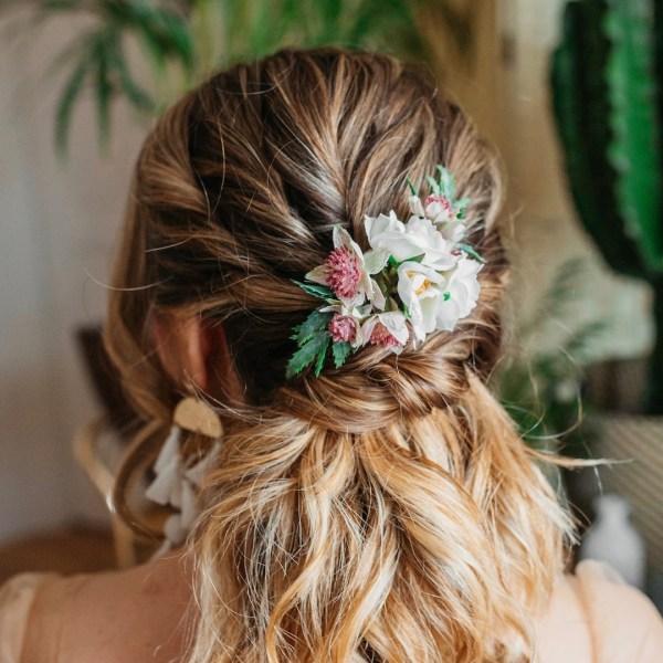 Lara Wild Rose Boho Wedding Hair comb