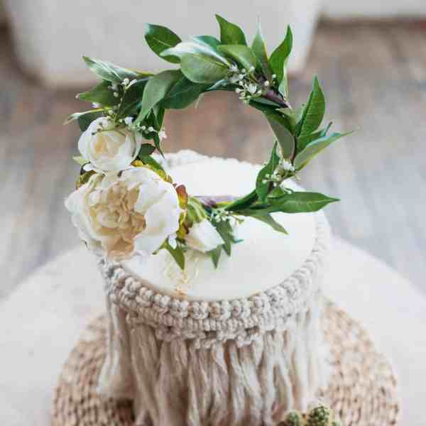 Peony Floral Cake Topper