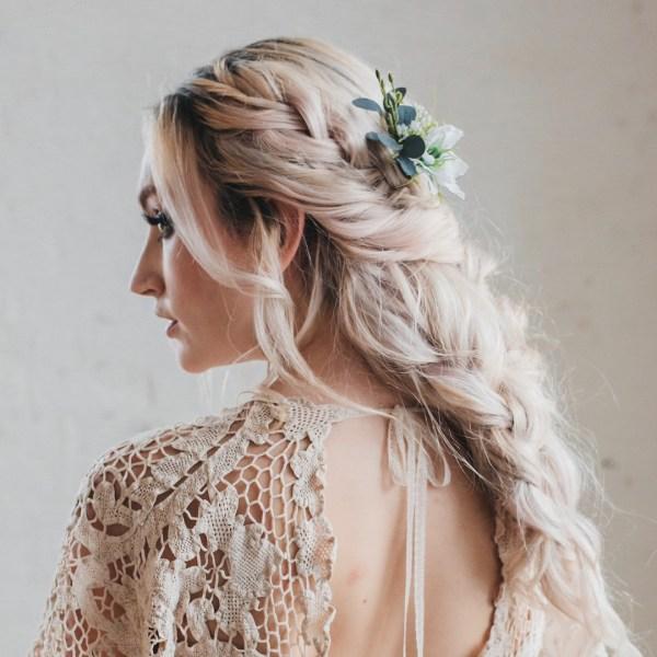 Celeste wedding flower bridal hair pin
