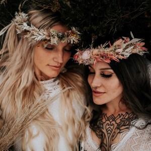 Pax Boho Dried Flower Crown Wedding Headband