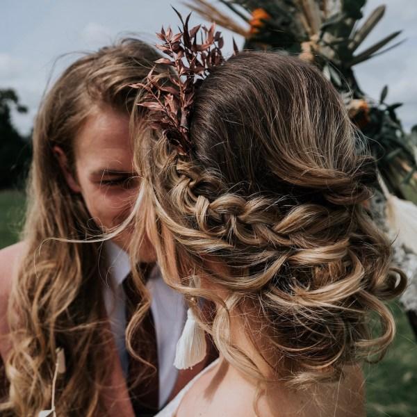 Bronze Ruscus Dried Flower Crown Wedding Headband