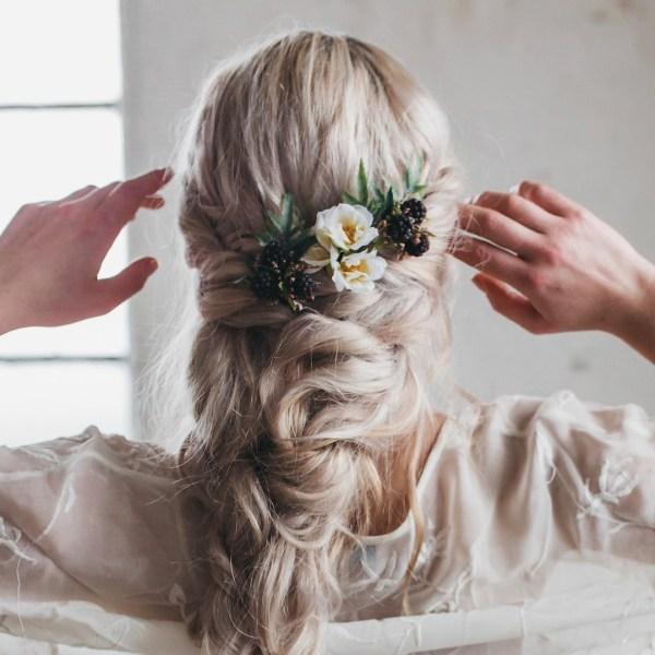 Amelie Autumn Berry Wedding Hair Pins