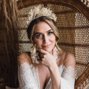 Luna and Wild Bloom Broom Bridal Wedding Dried Flower Crown