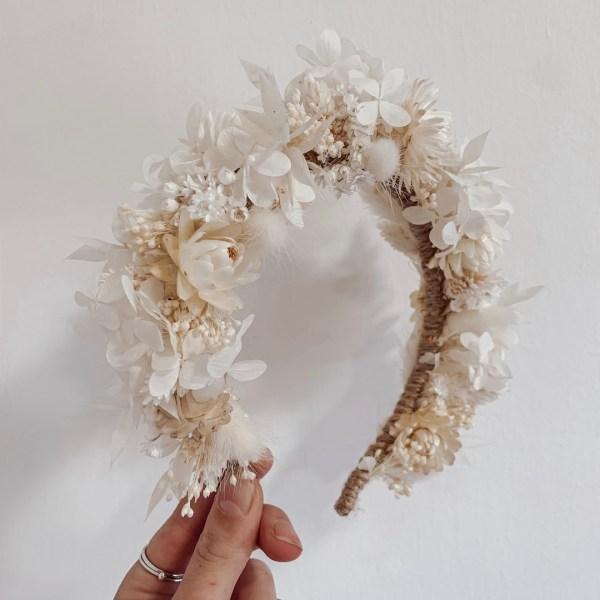 Luna dried flower crown bridal headband