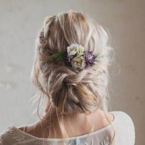 Lilac Lara Wild Rose Wedding Hair Comb