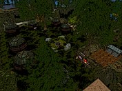 Birds eye view of Forest Moon camp