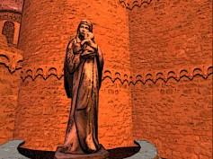 Statue near the city walls