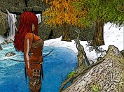 Red hair crosses yet another small river