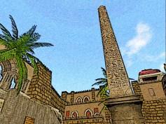 Oasis of two scimitars obelisk