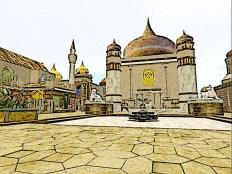 Oasis of two scimitars prayer temple