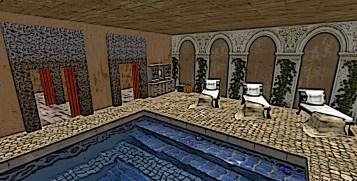 Inside the bath house