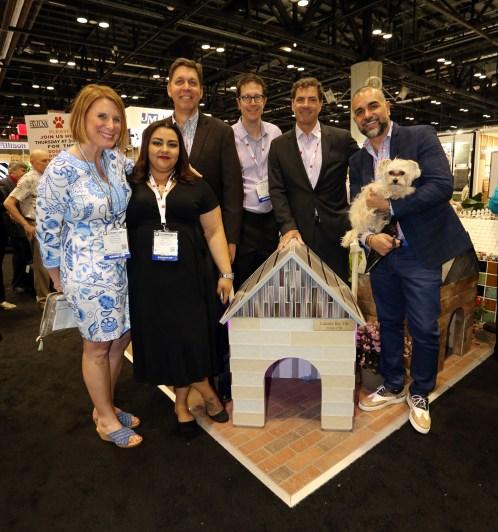 From left: Kristin Good, Elaine Medrano, Mark Simon, Jim Stevens, Michael McConnell and Feras Irikat of Lunada Bay Tile.