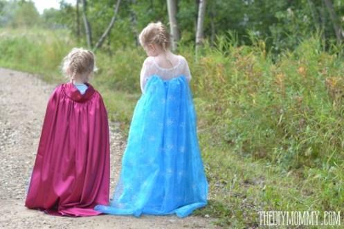 Elsa Anna costume DIY