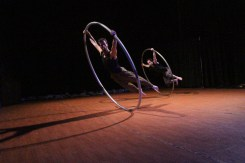 Ty Vennewitz and Terry Cramer on Cyr wheel (roue Cyr)