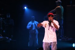 Talib Kweli appearing as a guest during the Black Eyed Peas set at the Apollo Theater