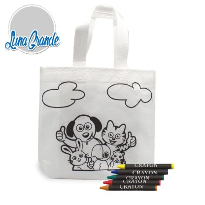 Bolsa infantil para colorear, incluye cinco lpices de ceras