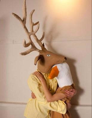 Paper maché masks by Elsa Dray Farges
