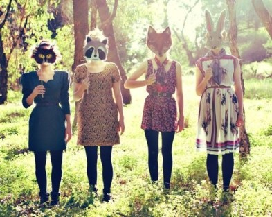 Guys, these are literally cool dresses and masks on sticks. You can do this.