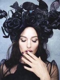 Monica Bellucci, Luna Luna's resident goddess - the goth look