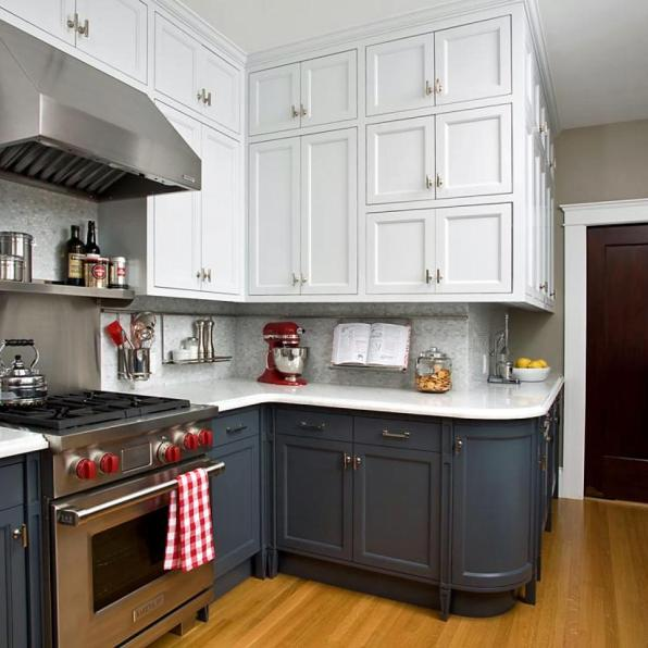 Interior Kitchen Cabinets Spokane kitchen cabinet painting in spokane refinishing rms countertops marble two toned cabinets s4x3 jpg rend hgtvcom