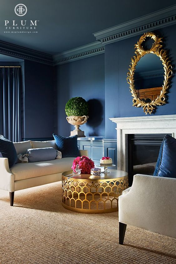Spokane Interior Painting Trend Spotlight: Navy Blue U0026 Gold