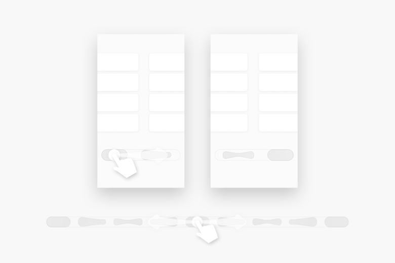 Wireframe of iOS SegmentedControl and UISwitch