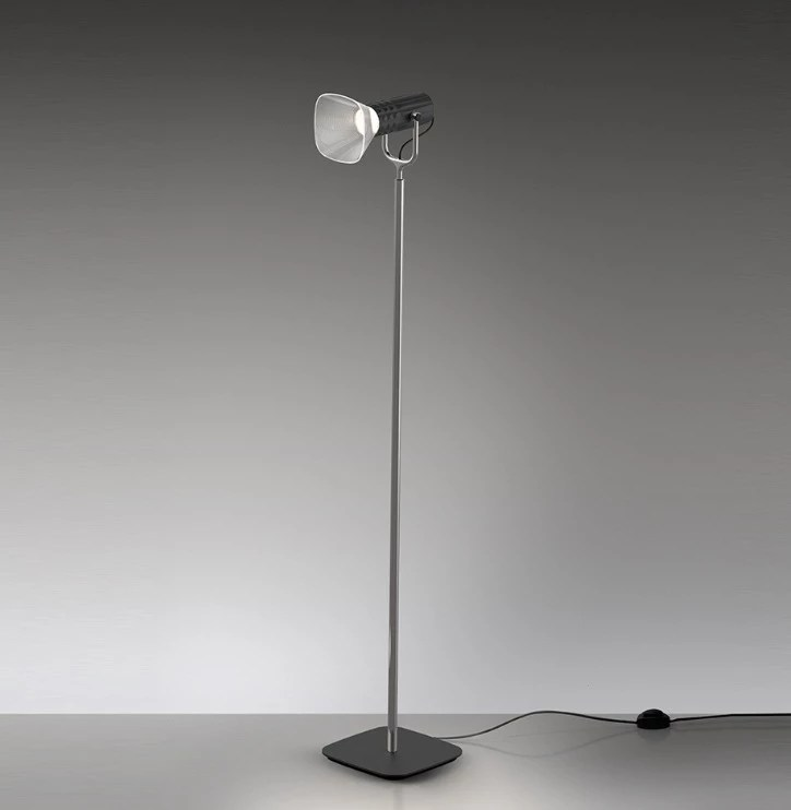 Artemide Fiamma Floor Reading Lamp Black Lunares Store