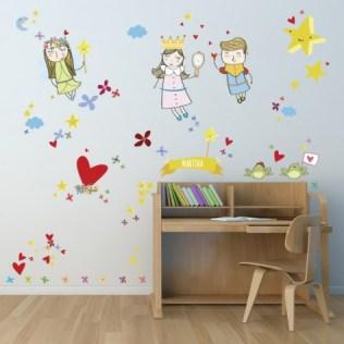 vinilos-infantiles-pared-princesas