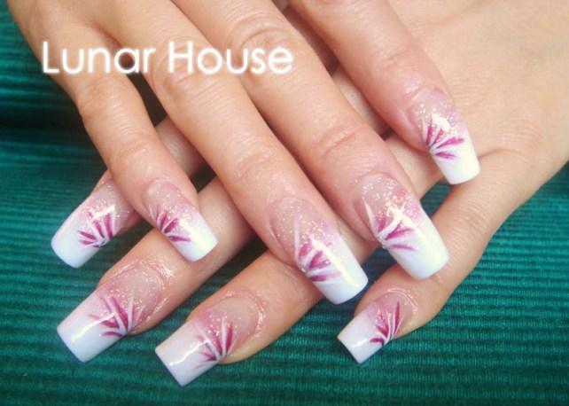 acrylic nails extension lunar