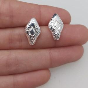 Aros bañado en plata de 17mm Cabeza de Serpiente LBO10953