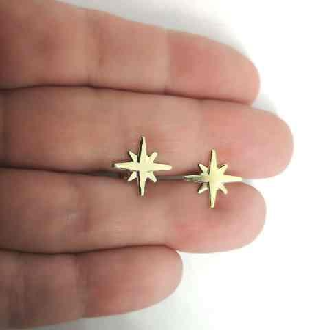 Aro bañado en oro de 12mm Estrella Fugaz LBO11254