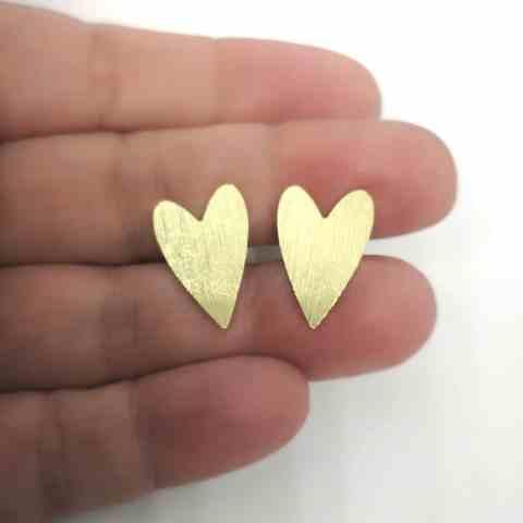 Aro bañado en oro de 18mm Corazón LBO11274