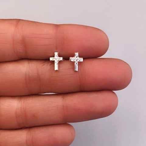 Aros bañados en plata de 8mm Cruz Circones LBO11443