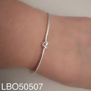 Esclava bañado en plata Nudo LBO50507