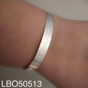 Esclava bañado en plata Hoponopono LBO50513